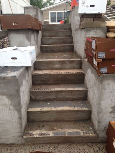 Masonry Steps project in secaucus