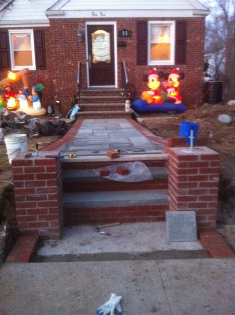 New stone walkway in waldwick nj