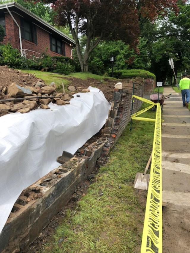 Prep Work for New Retaining Wall
