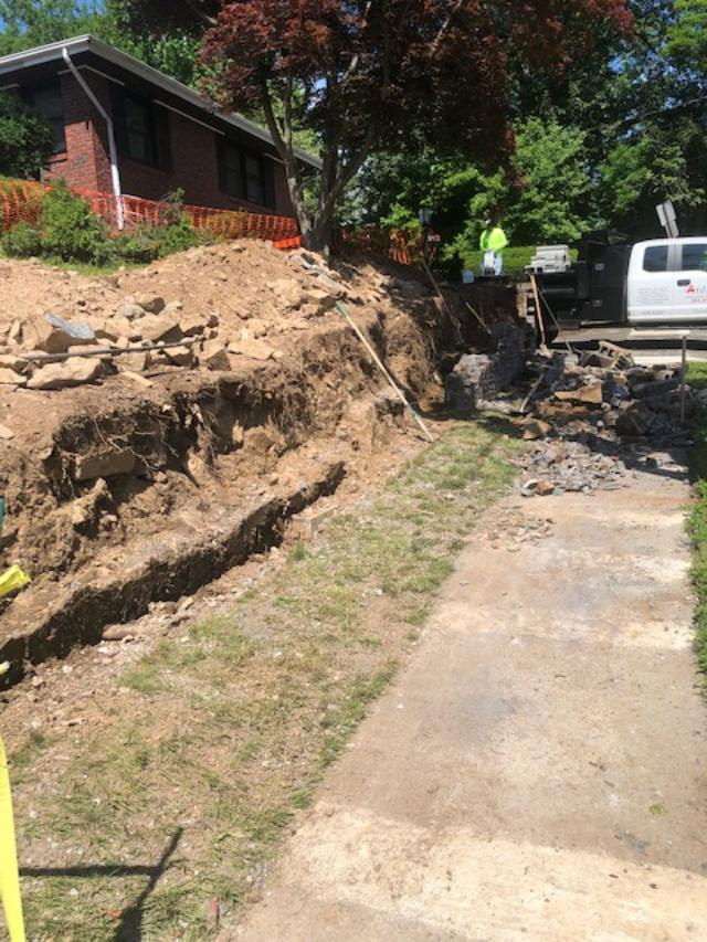 Demo for New Retaining Wall