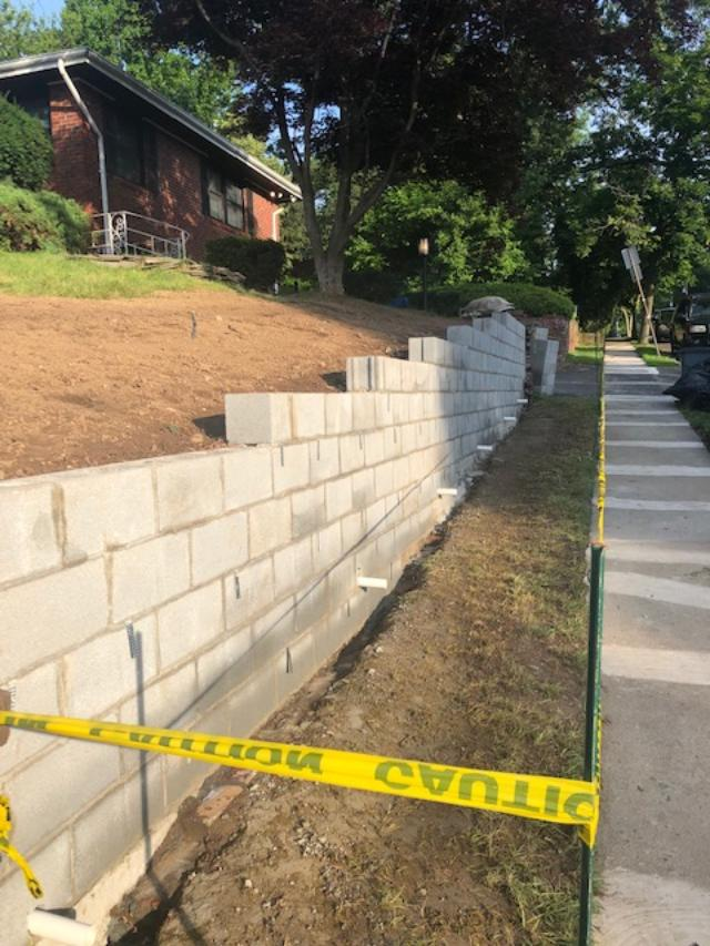 Retaining Wall Project in Bergen County
