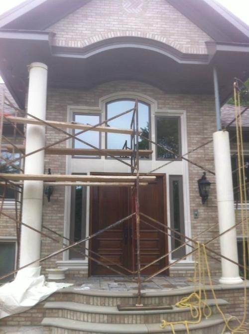 Masonry Stonework Project in Progress