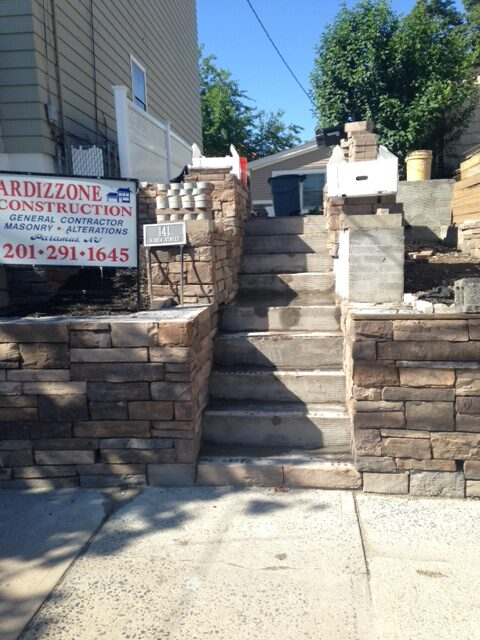 Stone Steps and Stone Wall - Progress Photo