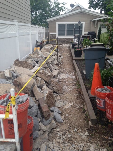 Demo for Paver Installation in Secaucus