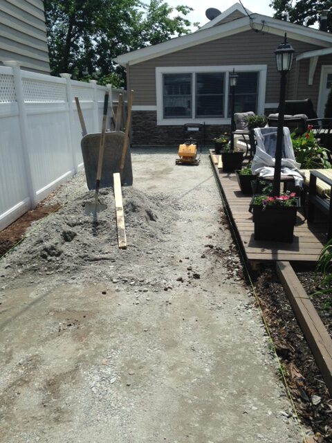 Prepping for Paver Installation in Secaucus