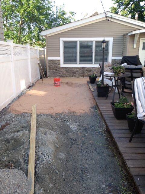 Prepping for Paver Installation Project