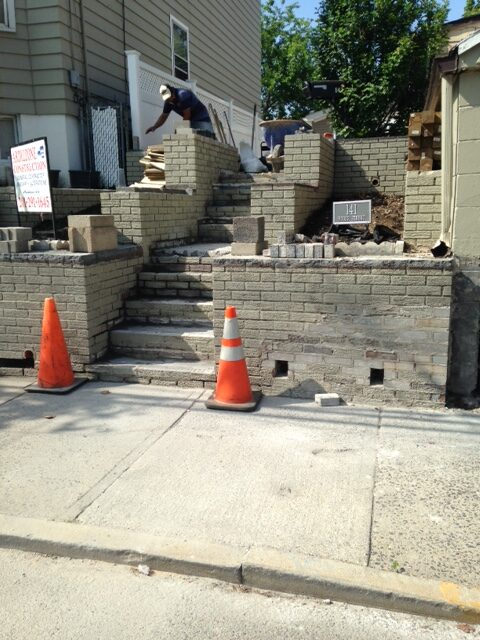 Masonry Steps Project in Secaucus NJ
